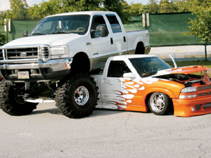 Look over this absolutely amped truck you gonna laugh out loud :)