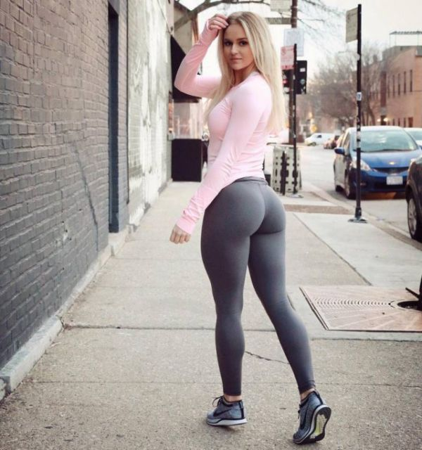 Peep out this yoga pants wearing altoghether slick chick that we know you will tell all your friends about!