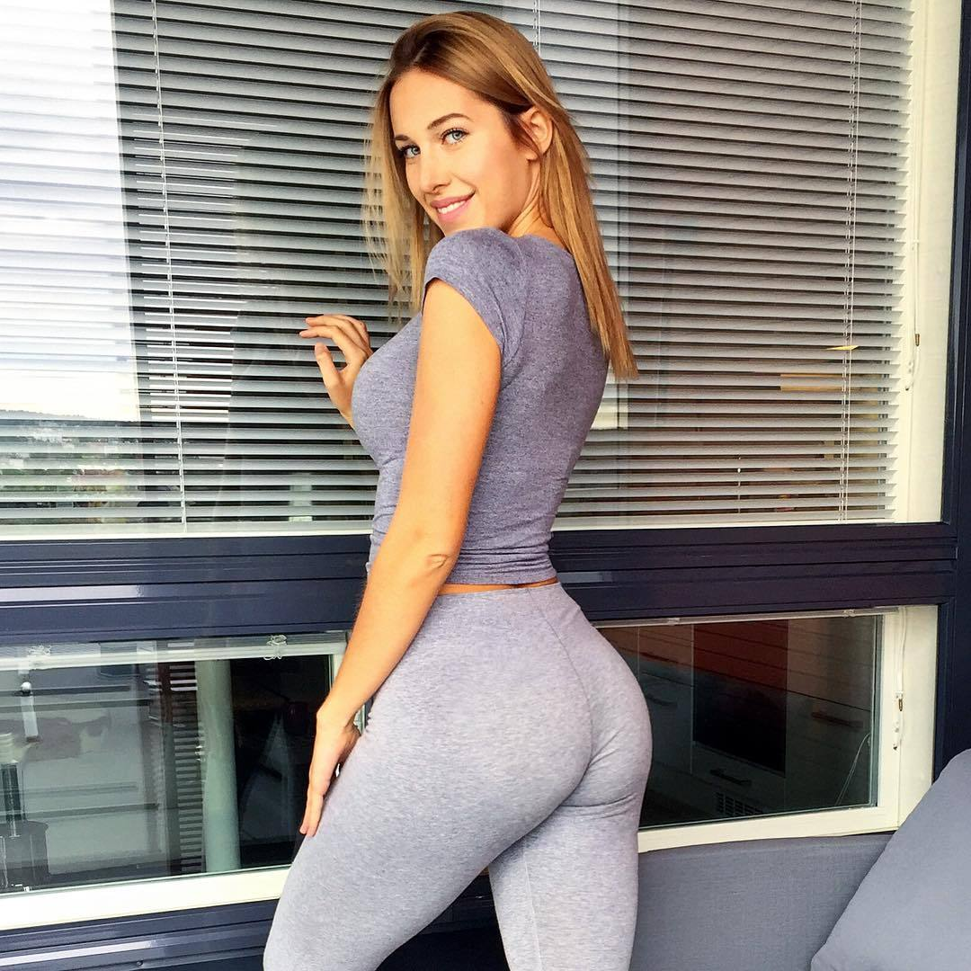 Look over this yoga pants wearing completely on point chick that we know you will adore!
