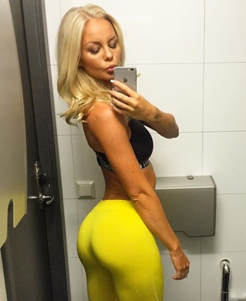 Lay your eyes on this yoga pants wearing completely blazin babe that we know you will love :)